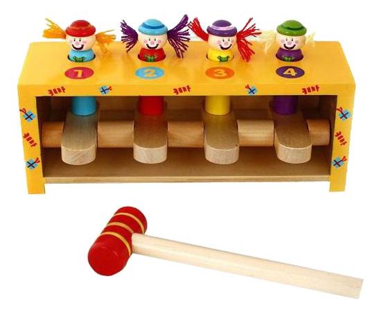 Купить Деревянная игрушка для малышей Mapacha Прыгающие клоуны, Развивающие игрушки