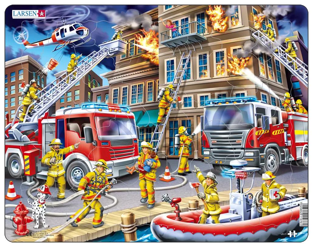 Купить Пазлы Larsen Пожарники 45 элементов US21