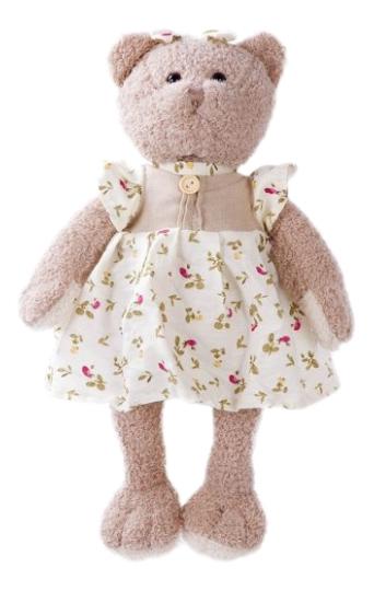 Купить Мягкая игрушка дикое животное 681396, Мягкая игрушка Angel Collection Мишка машенька 23 см 681396,