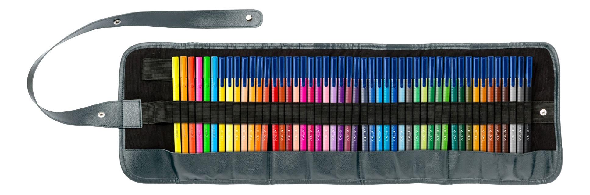 Купить Набор фломастеров Staedtler Triplus Color Яркие цвета 48 цветов, Фломастеры
