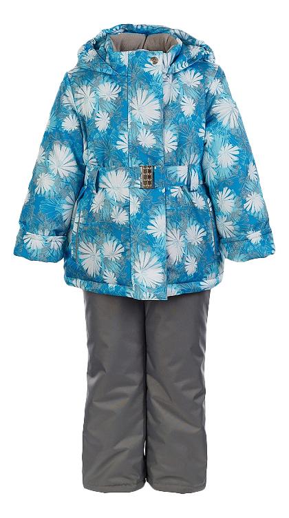 Комплект верхней одежды Oldos, цв. бирюзовый; серый р. 92 Николь