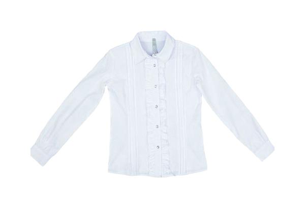 Купить Блуза для девочки S Cool белая с рюшами р.152, S'Cool, Детские блузки, рубашки, туники