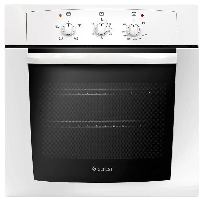 Встраиваемый газовый духовой шкаф GEFEST ДГЭ 601-01 White/Black