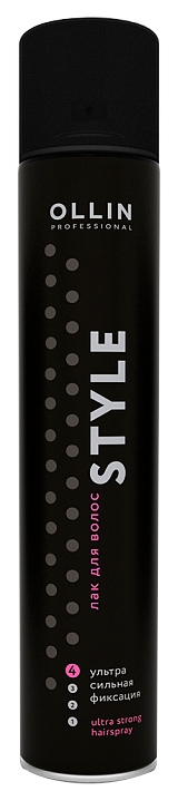 Лак для волос Ollin Professional Style Ultra Strong без отдушки 400 мл