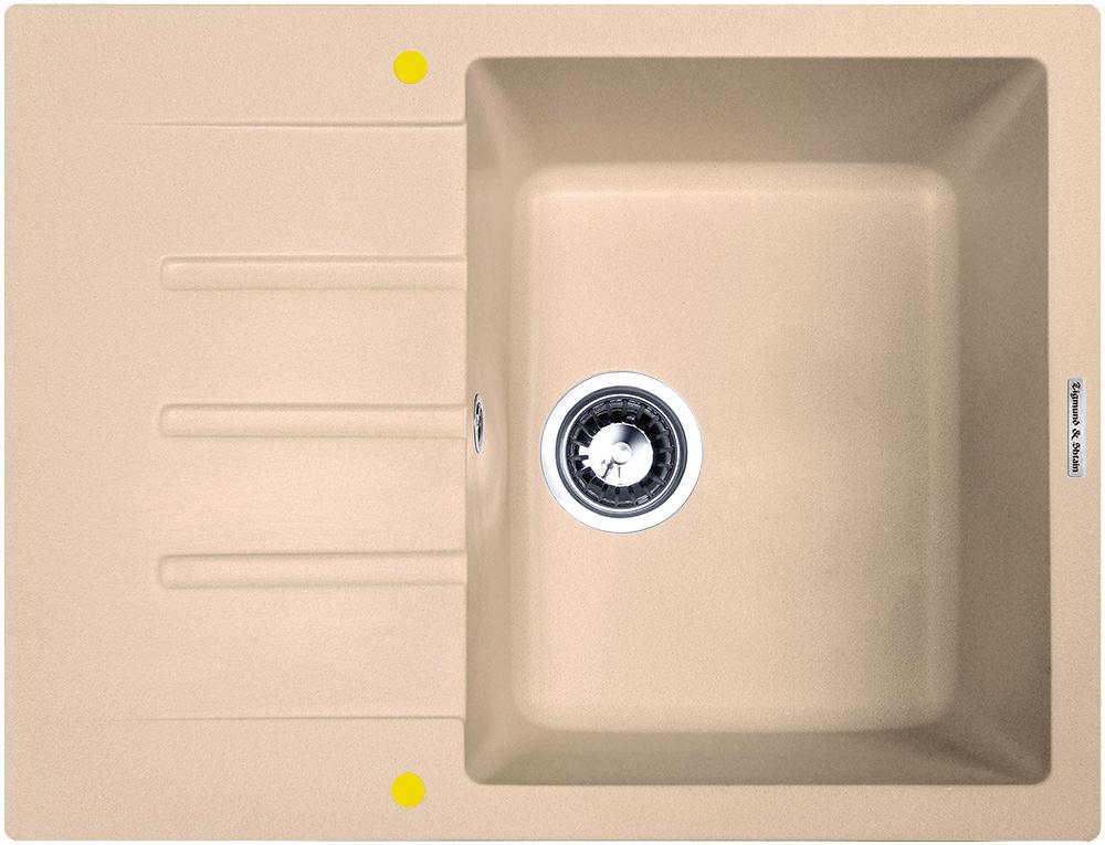Мойка для кухни гранитная Zigmund #and# Shtain RECHTECK 645 топленое молоко