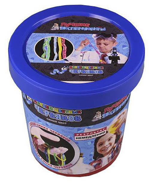Купить Набор для экспериментов Научные технологии Микро-набор Делаем цветных червяков, Синий , Наборы для опытов