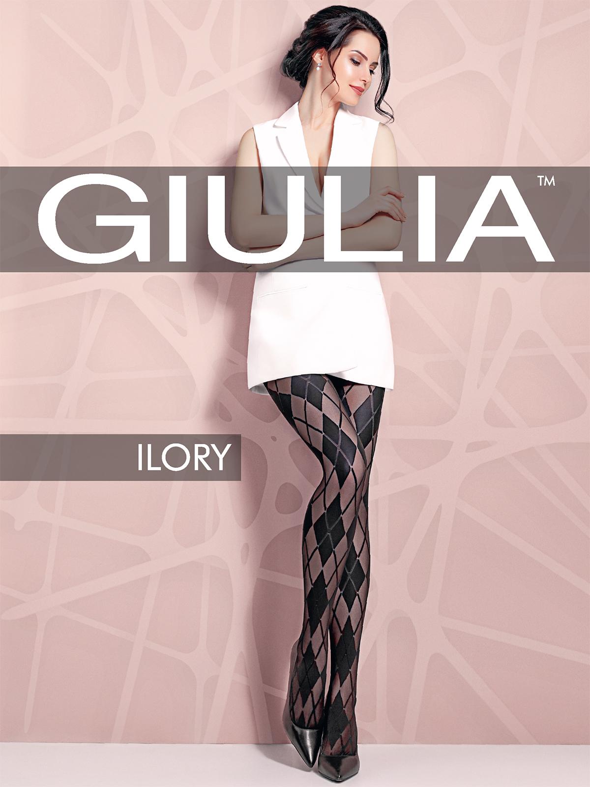 Колготки женские Giulia ILORY 03 черные 4 (L), ILORY 03