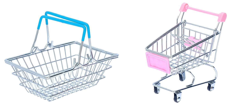 Купить Набор для покупок Мини-магазин с корзинкой и тележкой Sima-Land, Детские тележки для супермаркета