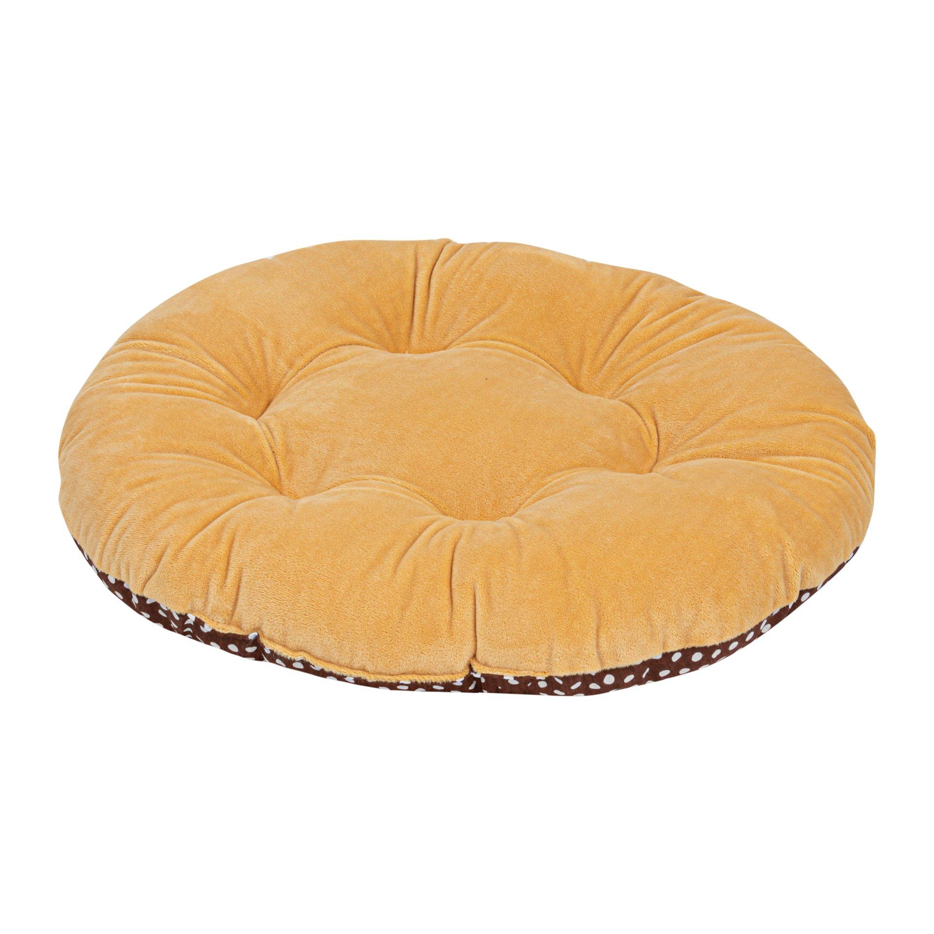 Лежак для собак и кошек Xody Овальный №5, мех, 80х70 см