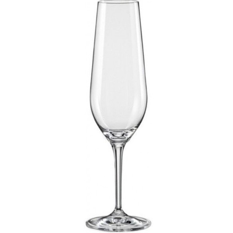 Набор бокалов для шампанского 2шт BOHEMIA CRYSTAL