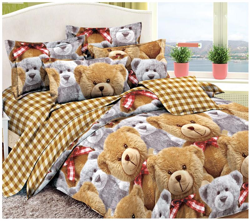 Купить Комплект постельного белья Cleo Baby soft Плюшики 53/022(2)-PD, Комплекты детского постельного белья