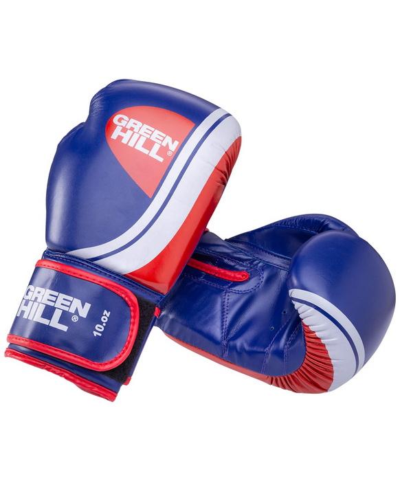 Боксерские перчатки Green Hill Knockout синие/красные