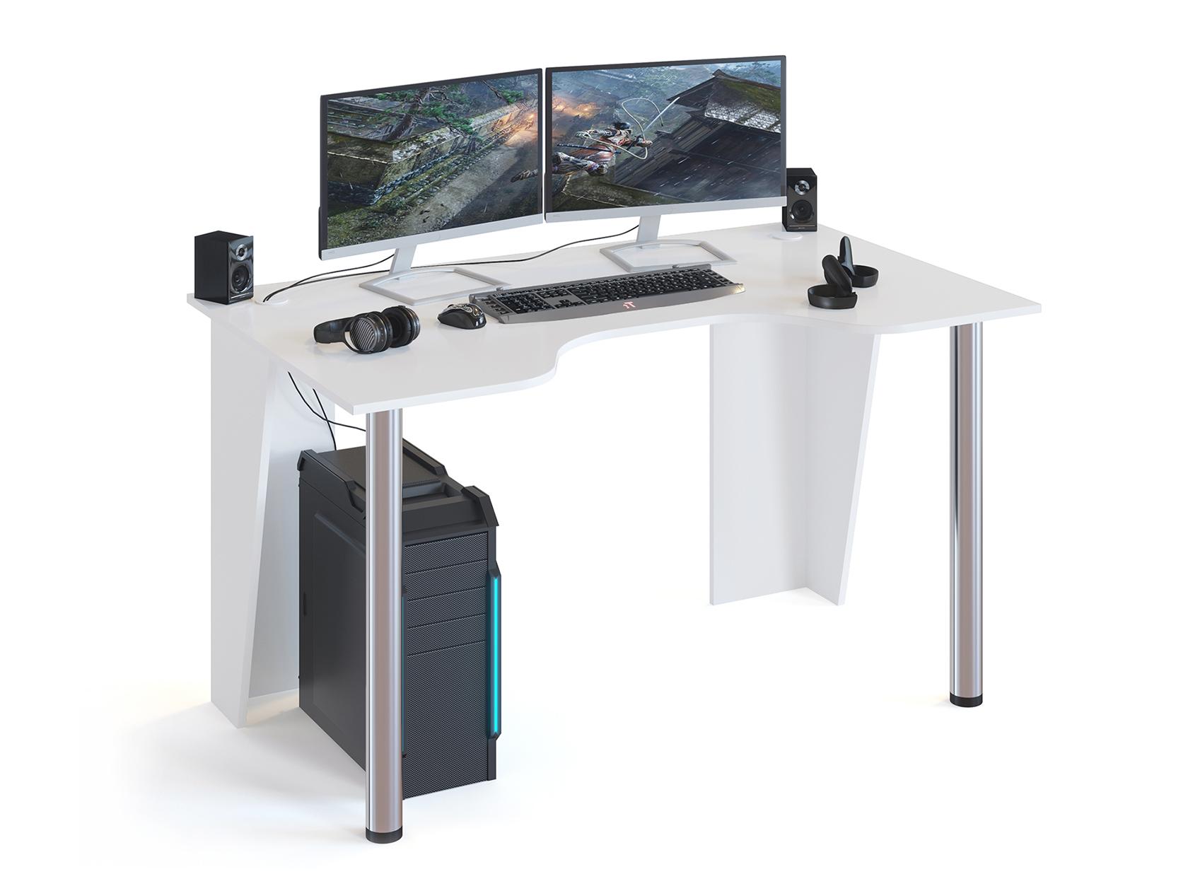 Игровой компьютерный стол Сокол КСТ 18 Белый