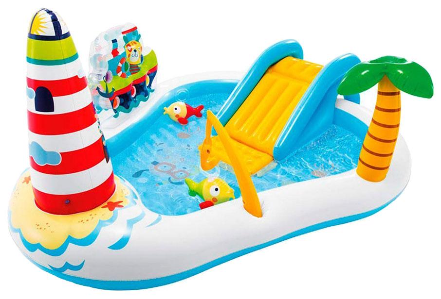Купить Игровой центр INTEX Рыбалка с горкой 218x188x99 см, Детские бассейны