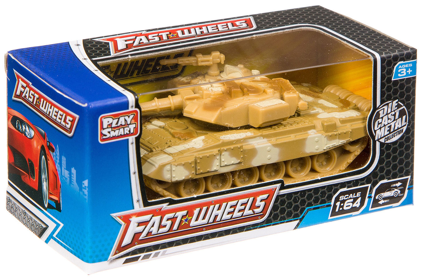 Купить Набор танков и БТР 36 шт. Fast Wheels Play Smart 1:64 арт.6594W., PLAYSMART, Военный транспорт