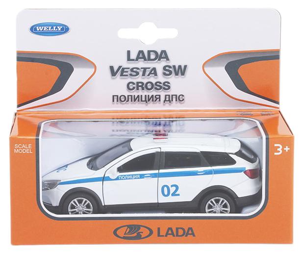 Купить Welly 43763PB Велли Модель машины 1:34-39 LADA VESTA SW CROSS Полиция ДПС, NoBrand, Коллекционные модели