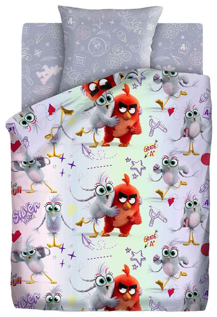 Комплект постельного белья Angry Birds 2 полутораспальный, 16223-1/16224-1 Ред и Сильвер