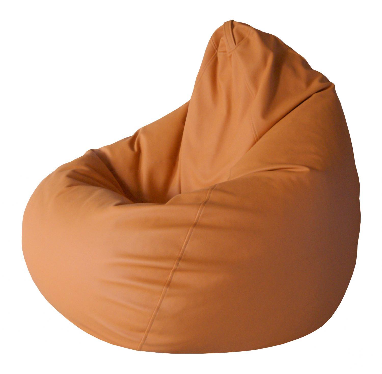 Кресло-мешок Папа Пуф Экокожа Оранжевый, размер XL, экокожа, оранжевый