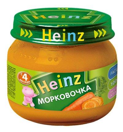 Пюре овощное Heinz морковочка, 5 мес., 12шт