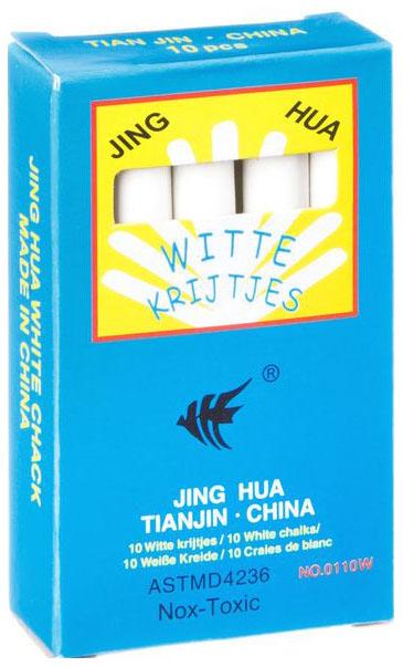 Купить Набор белых мелков, 10 шт, 8, 2х1, 05x0, 8 см., BOX, арт. 0110W, NoBrand, Наборы мелков