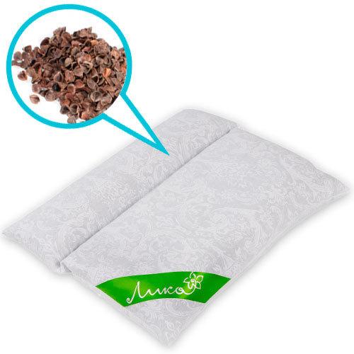 Подушка-валик Чистый Сон из гречихи, 45 х 50 см (из гречневой лузги), Лика