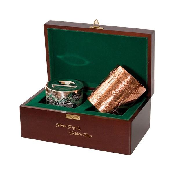 Набор зеленого  чая Ти Тэнг серебряные типсы и золотые типсы 100 г