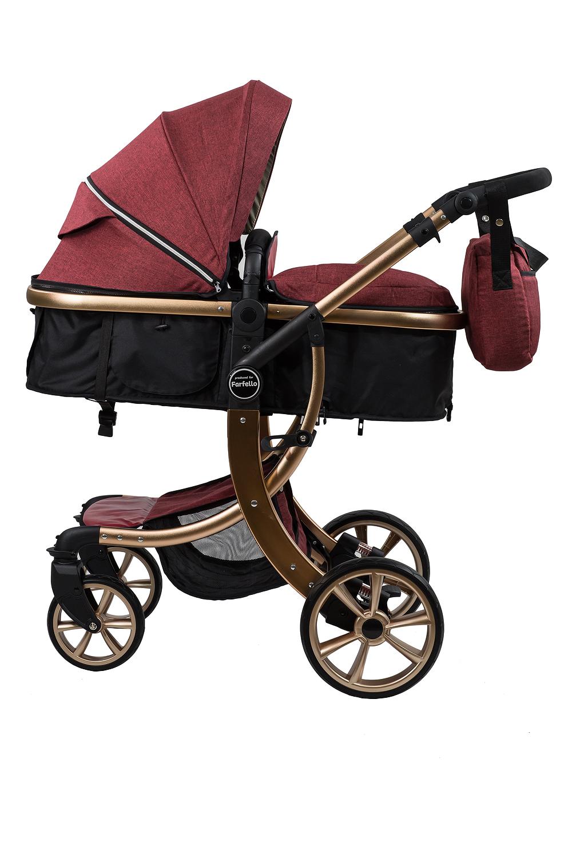 Купить Коляска трансформер Aimile Gold, ТM Farfello, бордовый, FTG-5, Детские коляски трансформеры