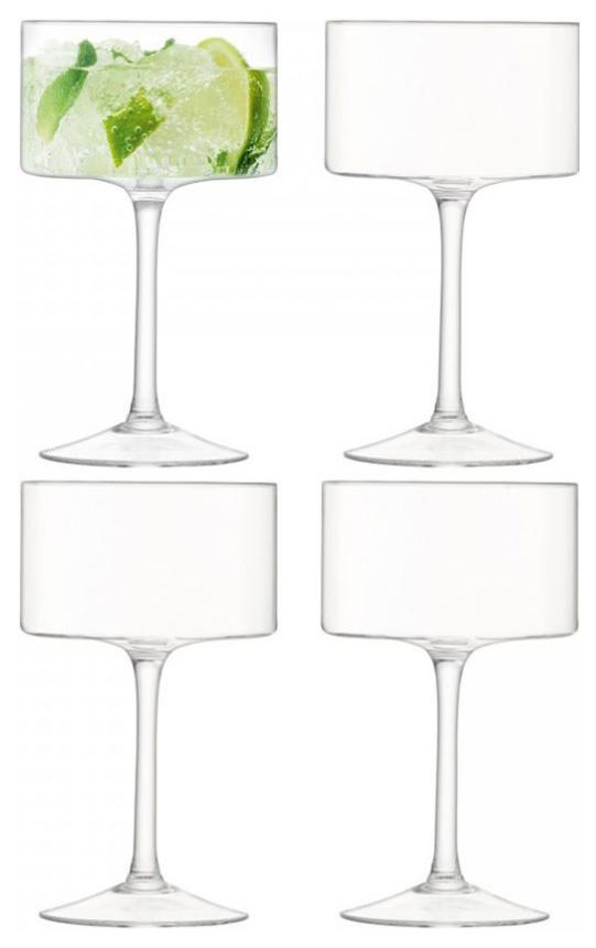 Набор из 4 бокалов-креманок LSA G1069-10-301 Otis Прозрачный