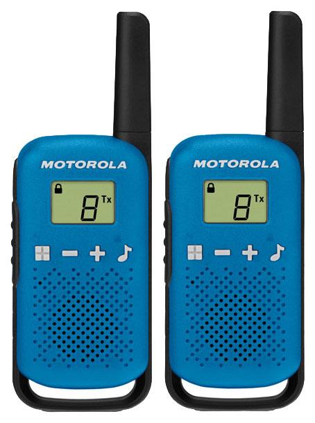 Комплект из двух радиостанций Motorola T42 BLUE (TALKABOUT)
