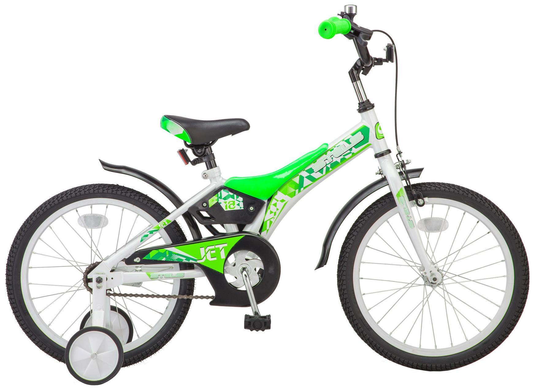 Велосипед STELS Jet 16 (Z010) белый/салатовый фото