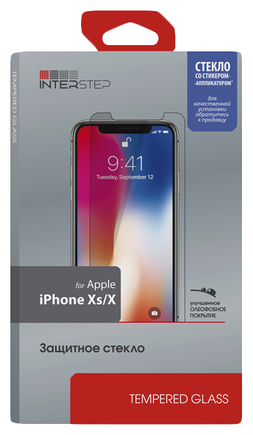 Защитное стекло InterStep для Apple iPhone X/iPhone
