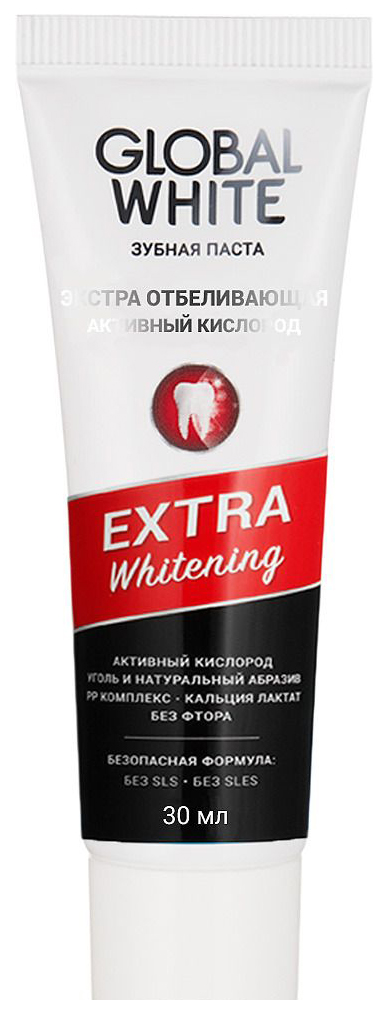 Зубная паста Global white Активный кислород 30 мл