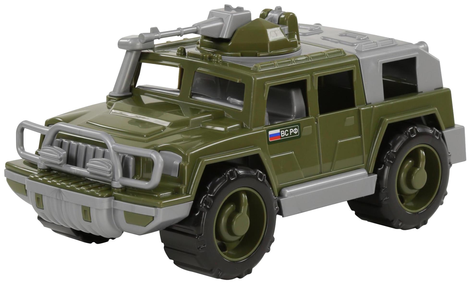 Купить Игрушки, Автомобиль-джип Полесье военный Защитник №1 с 1-м пулемётом, Игрушечные машинки