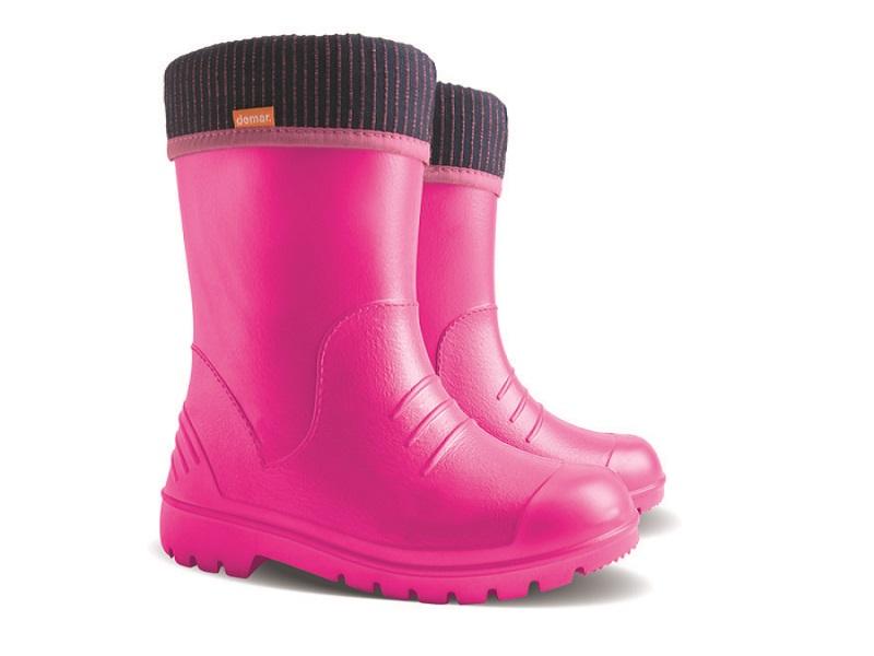 Купить DINO, Резиновые сапоги детские Demar, цв.розовый р.26,