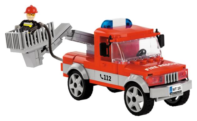 Конструктор пластиковый COBI Пожарный автомобиль Articulated Boom Fire Truck фото