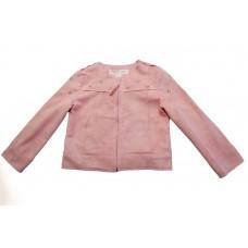Куртка Bon&Bon розовая из замши 627 р.128