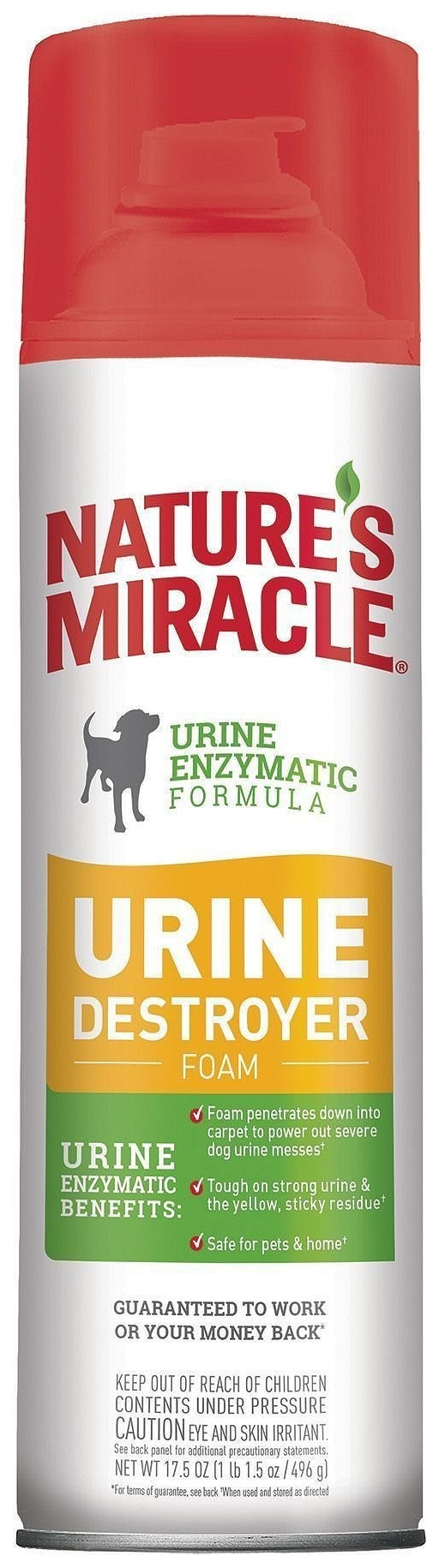 Nature's Miracle / Нейтрализатор пятен и запаха Nature's Miracle Dog Urine Destroyer Foam для собак 518 мл