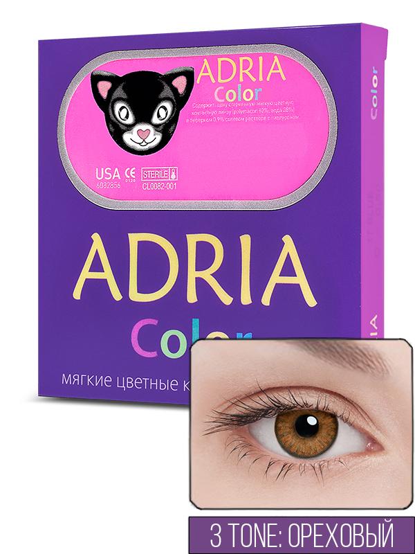 Контактные линзы ADRIA COLOR 3 TONE 2 линзы -10,00 pure hazel
