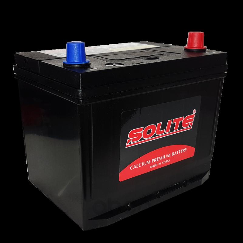 Аккумулятор автомобильный Solite 75D23L 65А/ч 550А полярность обратная фото