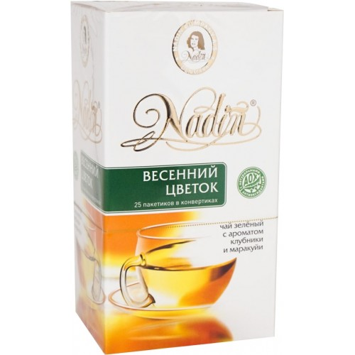 Чай зеленый Nadin весенний цветок 25 пакетиков