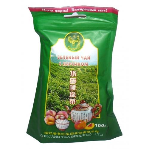 Чай зеленый листовой Верблюд персик 100 г