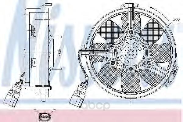 Вентилятор охлаждения двигателя Nissens 85547