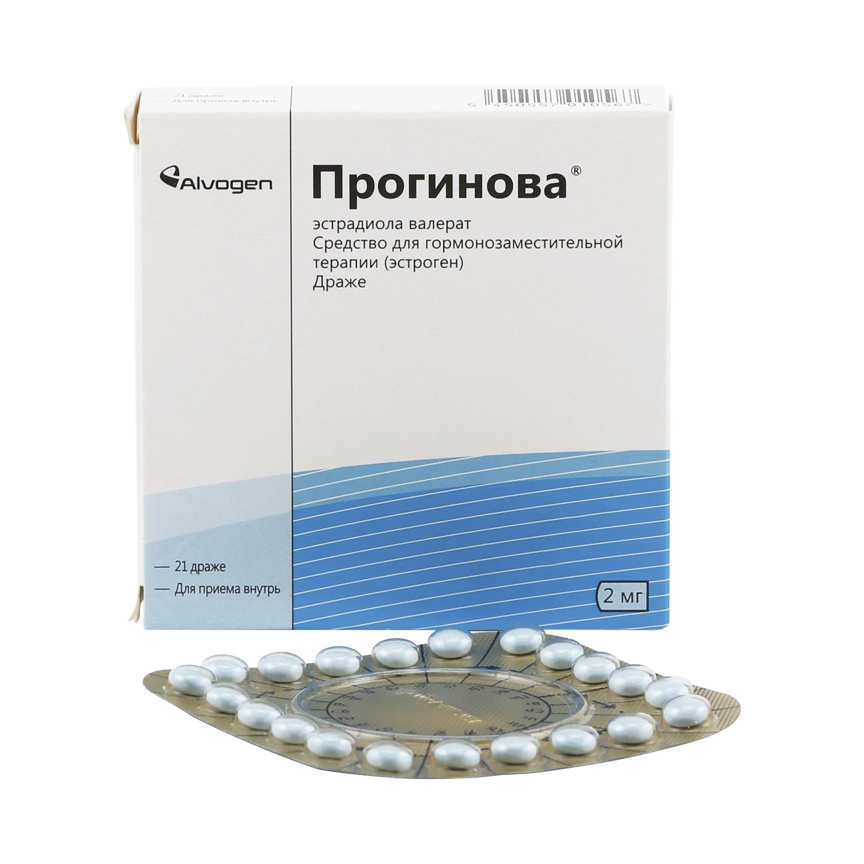 Купить Прогинова драже 2 мг 21 шт., Дельфарм Лилль