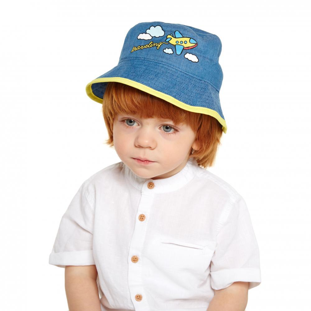 Панама детская Котофей, цв. синий р
