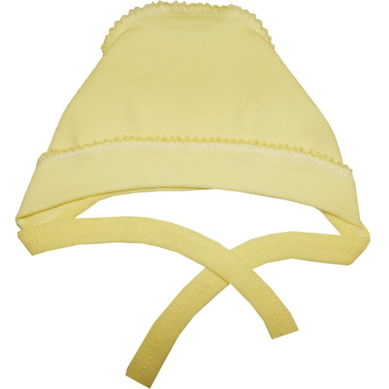 Купить Чепчик Папитто однотонный Желтый р.44 И37-123н, Чепчики