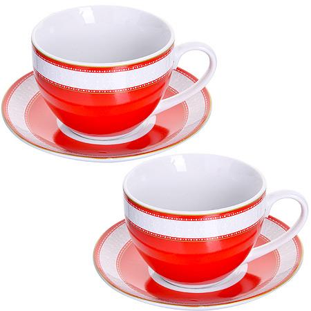 Чайный сервиз LORAINE розовая 28638 2 пер. фото