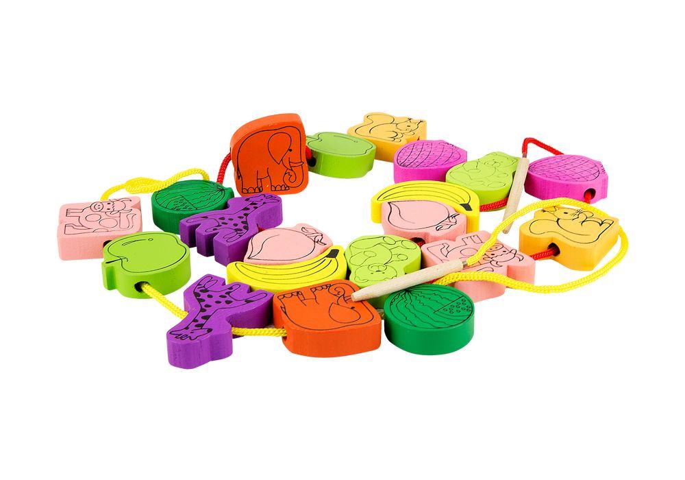Купить Развивающая игрушка Винтик и Шпунтик Сборные бусины, Шнуровки для детей