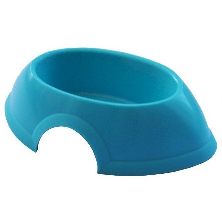 Одинарная миска для кошек ZooExpress, пластик, голубой,