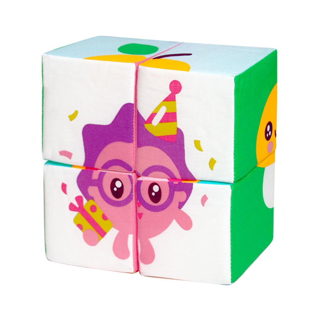 Купить Мягкие кубики Малышарики Собери малышарика Р92436 в ассортименте, Мякиши, Развивающие кубики