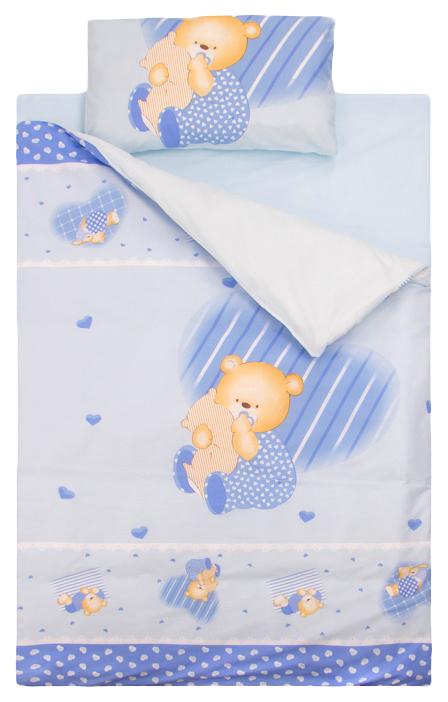ЗОЛОТОЙ ГУСЬ Комплект постельного белья Мишутка (цвет: голубой) 2102